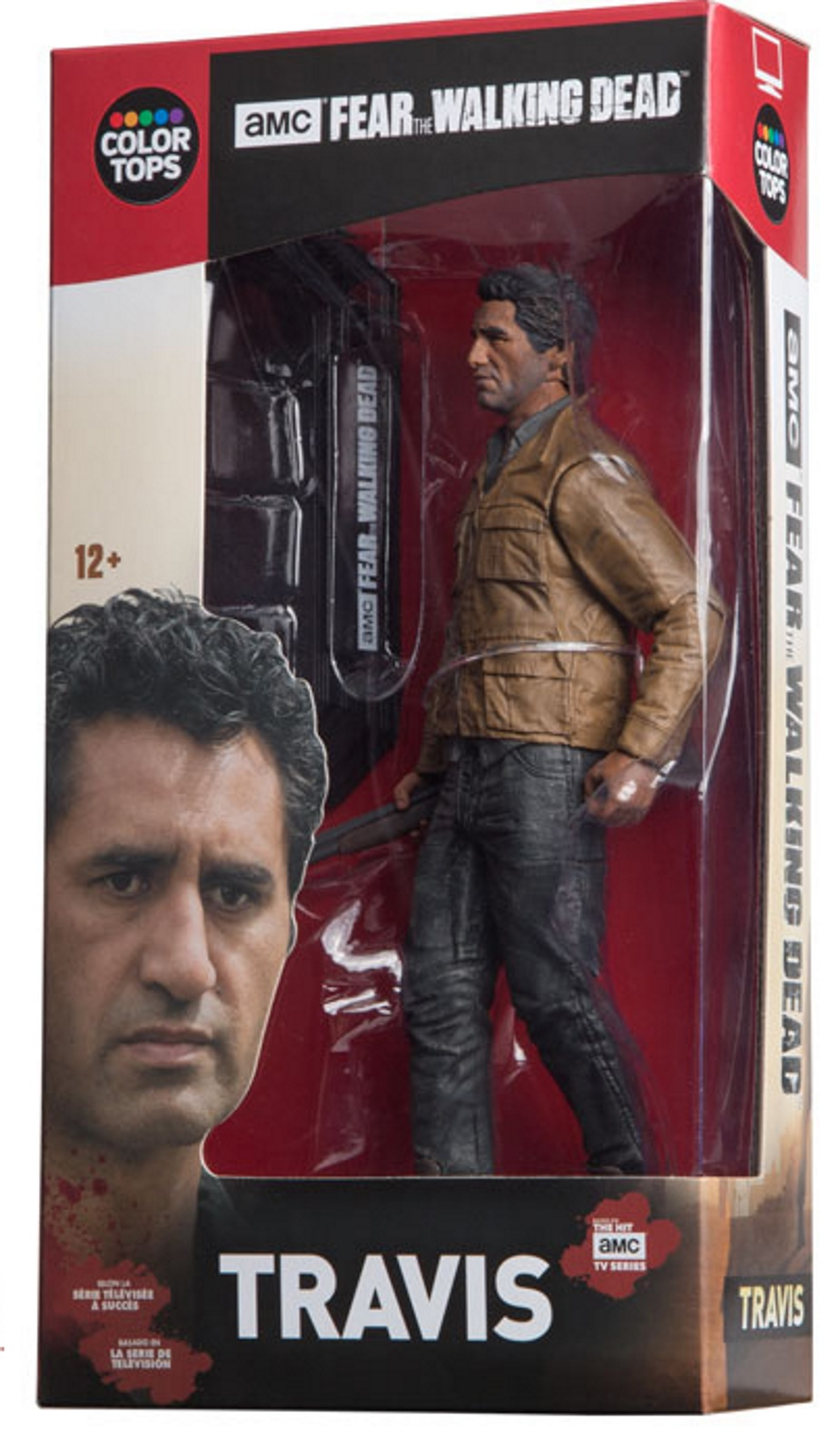 "COLOR TOPS RED WAVE #03 FEAR THE WALKING DEAD - TRAVIS MANAWA 7"" ACTION FIGURE"