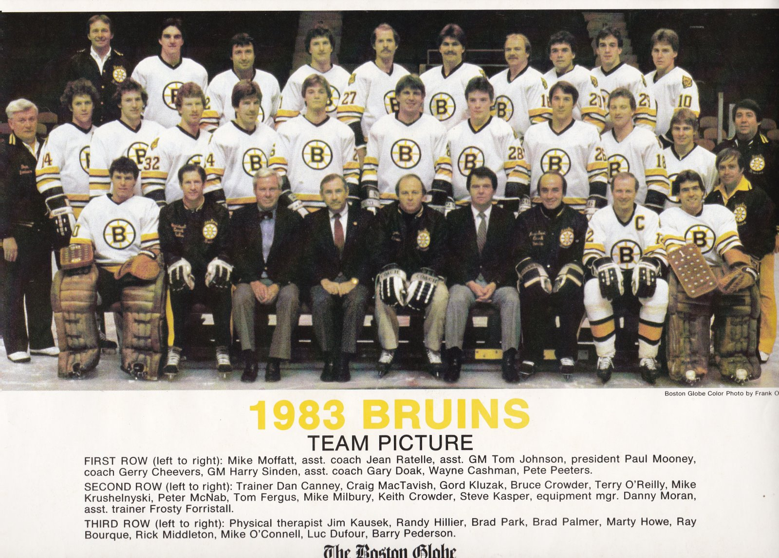 1983 Boston Bruins Team Color Print