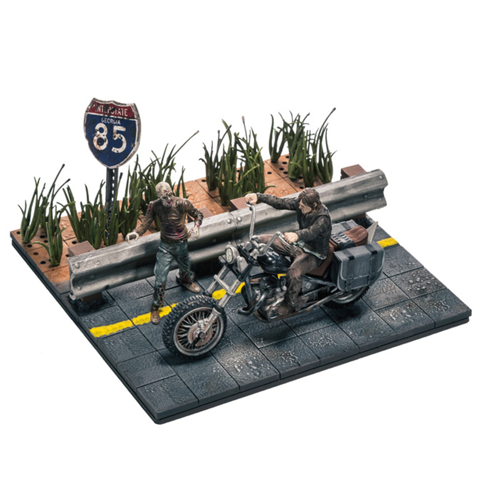 THE WALKING DEAD (TV) BUILDING SETS - DARYL DIXON WITH CHOPPER SET