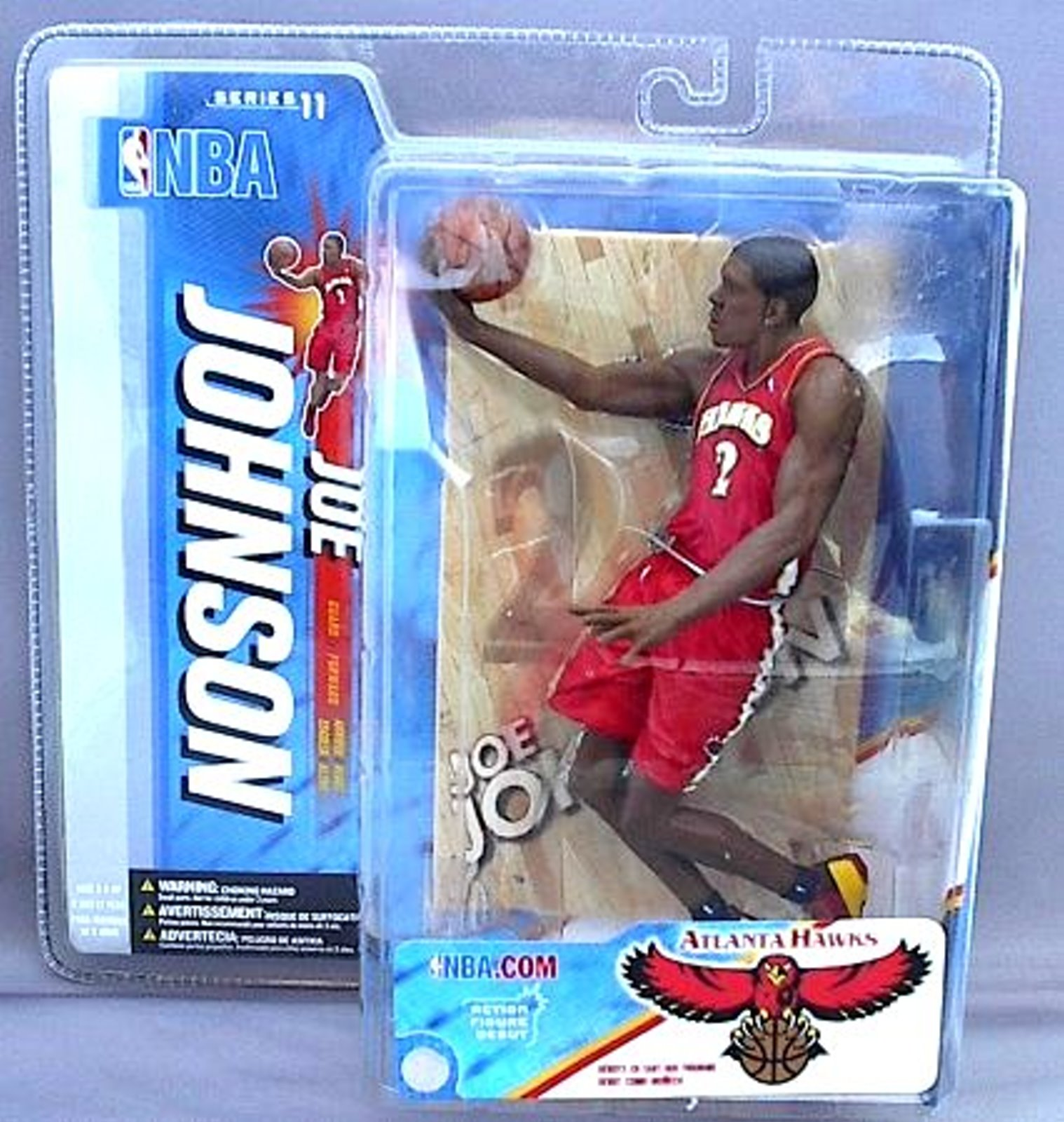 Joe Johnson NBA Series 11 McFarlane figure Atlanta Hawks