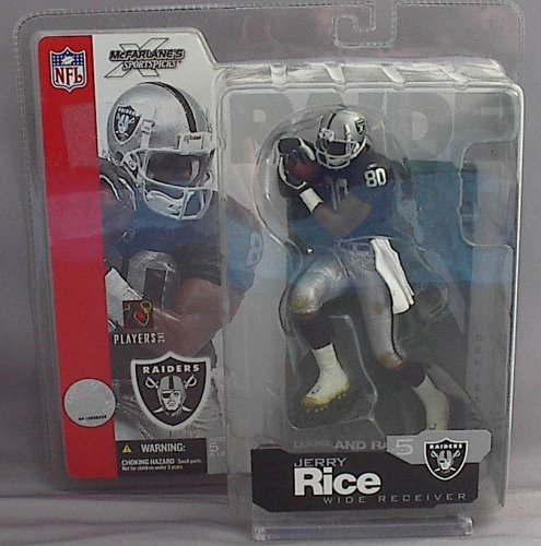 Jerry Rice NFL Series 5 McFarlane figure Oakland Raiders