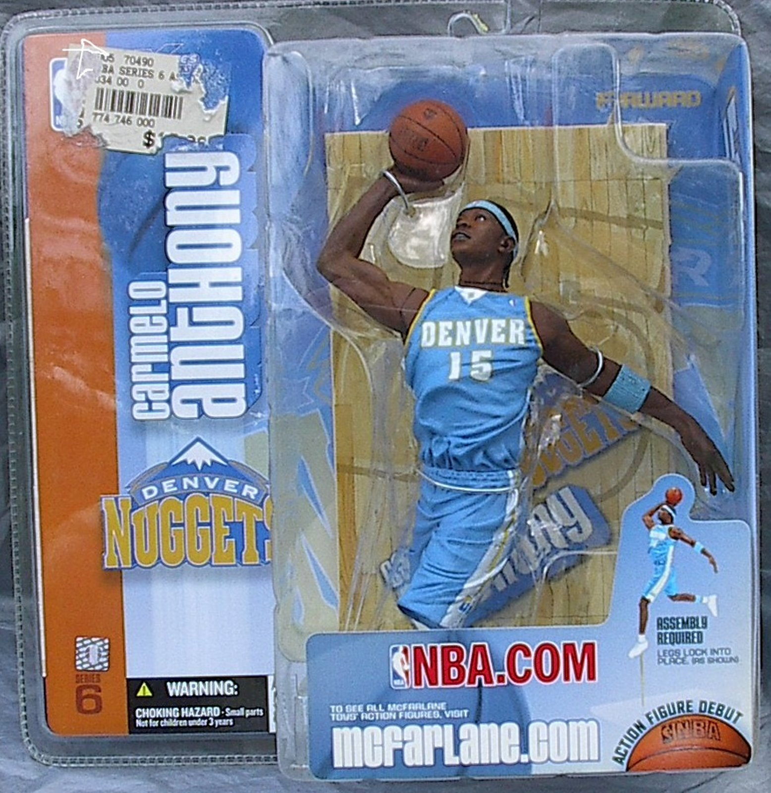 Carmelo Anthony NBA Series 6 McFarlane Debut figure Denver Nuggets