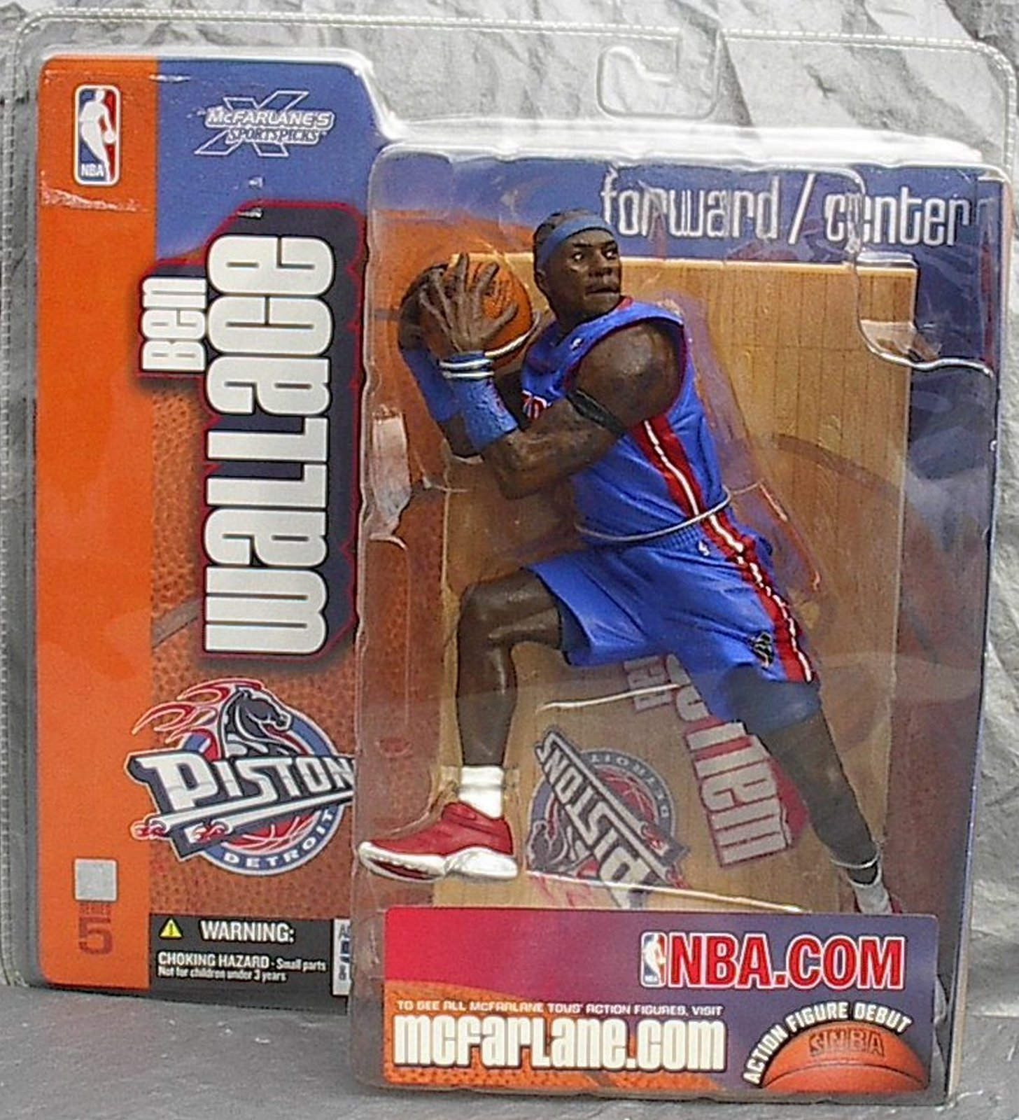 Ben Wallace NBA Series 5 McFarlane Debut figure CHASE Detroit Pistons