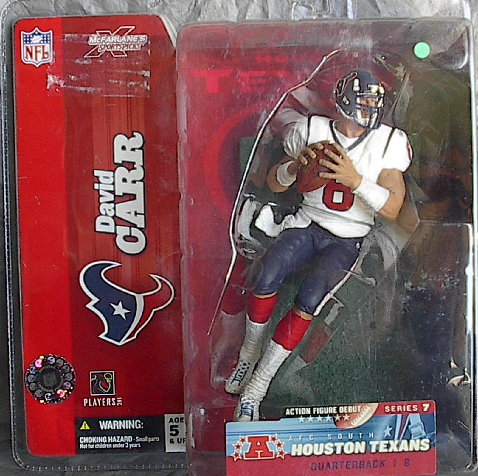 David Carr NFL Series 7 McFarlane Debut figure Houston Texans