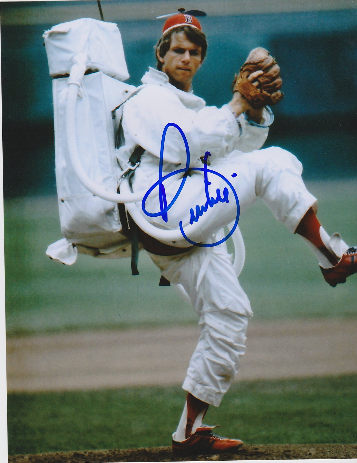 "Bill ""Spaceman"" Lee Autograph 8x10 Color photo Boston Red Sox"
