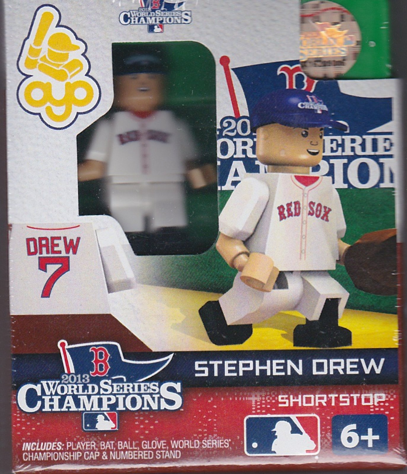 Stephen Drew OYO Baseball figure Series 1 G2LE World Series Champions Boston Red Sox
