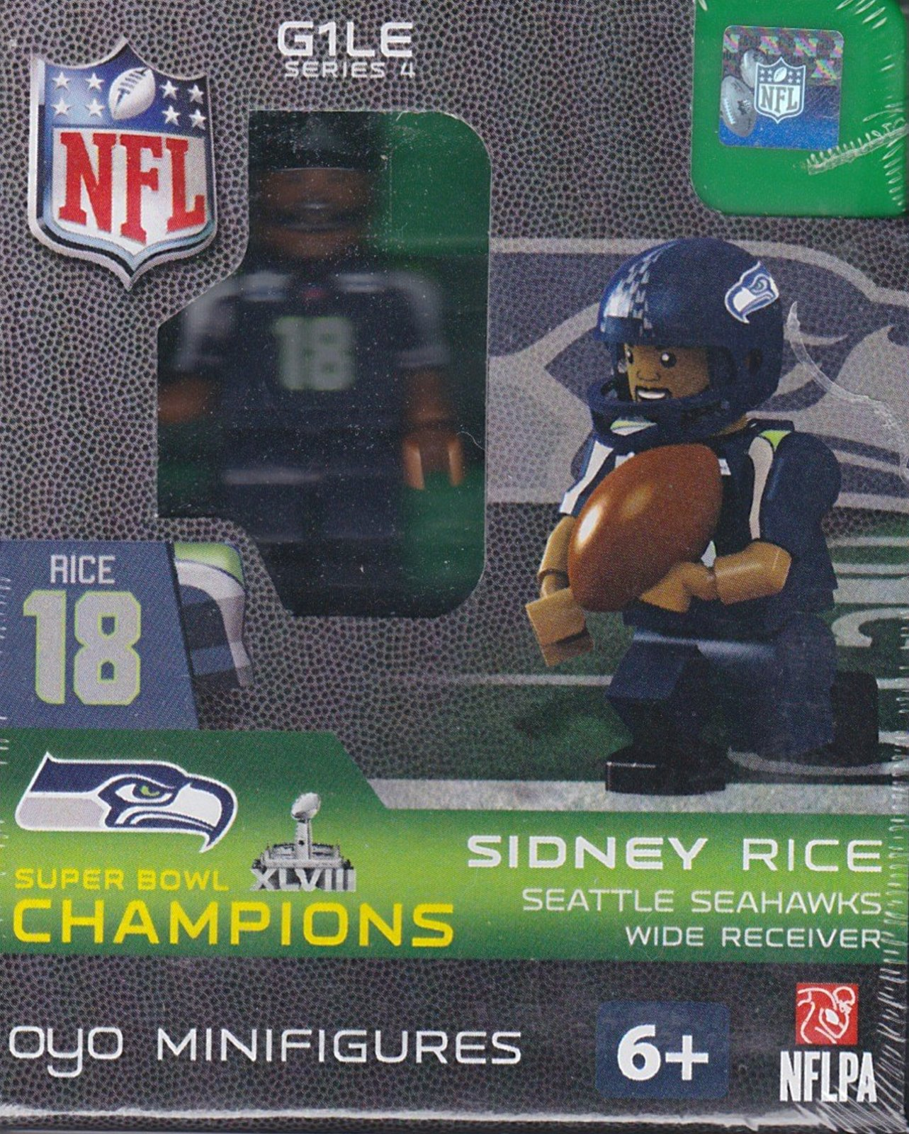 Sidney Rice Seattle Seahawks Super Bowl 48 Champions NFL OYO G1LE Series 4