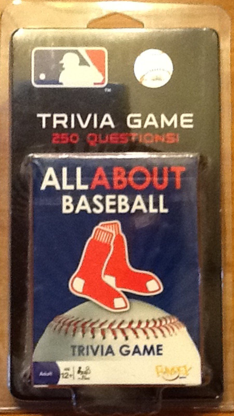 All About Baseball Trivia Game 250 Questions about Boston Red Sox