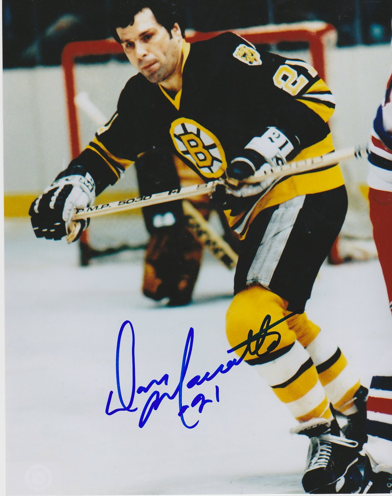Don Marcotte Autograph 8x10 Color photo Boston Bruins