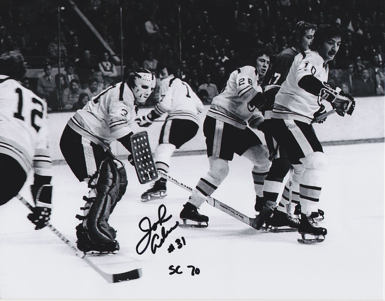 John Adams Autograph 8x10 Color photo Boston Bruins