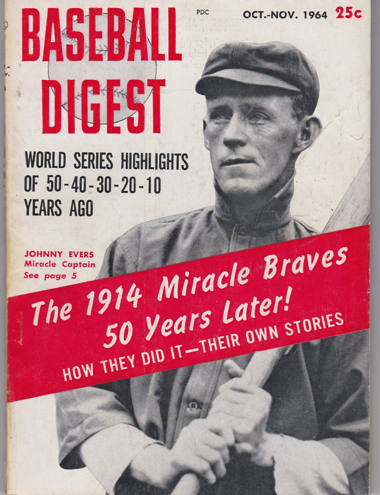 Baseball Digest Baseball's Monthly Magazine Oct-Nov, 1964