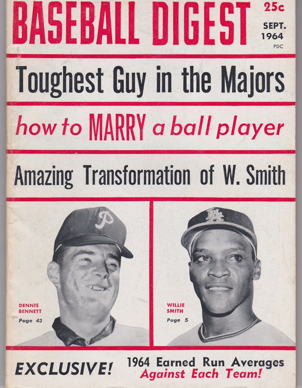 Baseball Digest Baseball's Monthly Magazine Sept, 1964