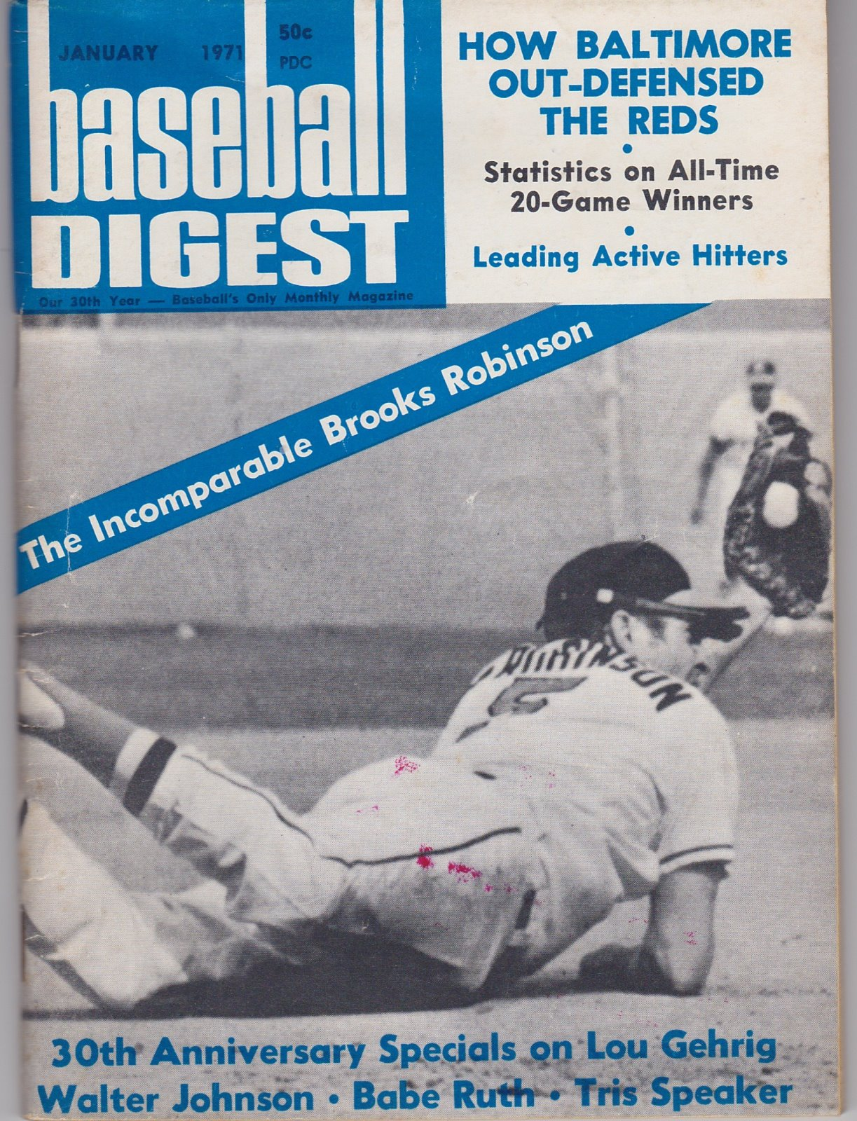 Baseball Digest Baseball's Monthly Magazine Jan, 1971