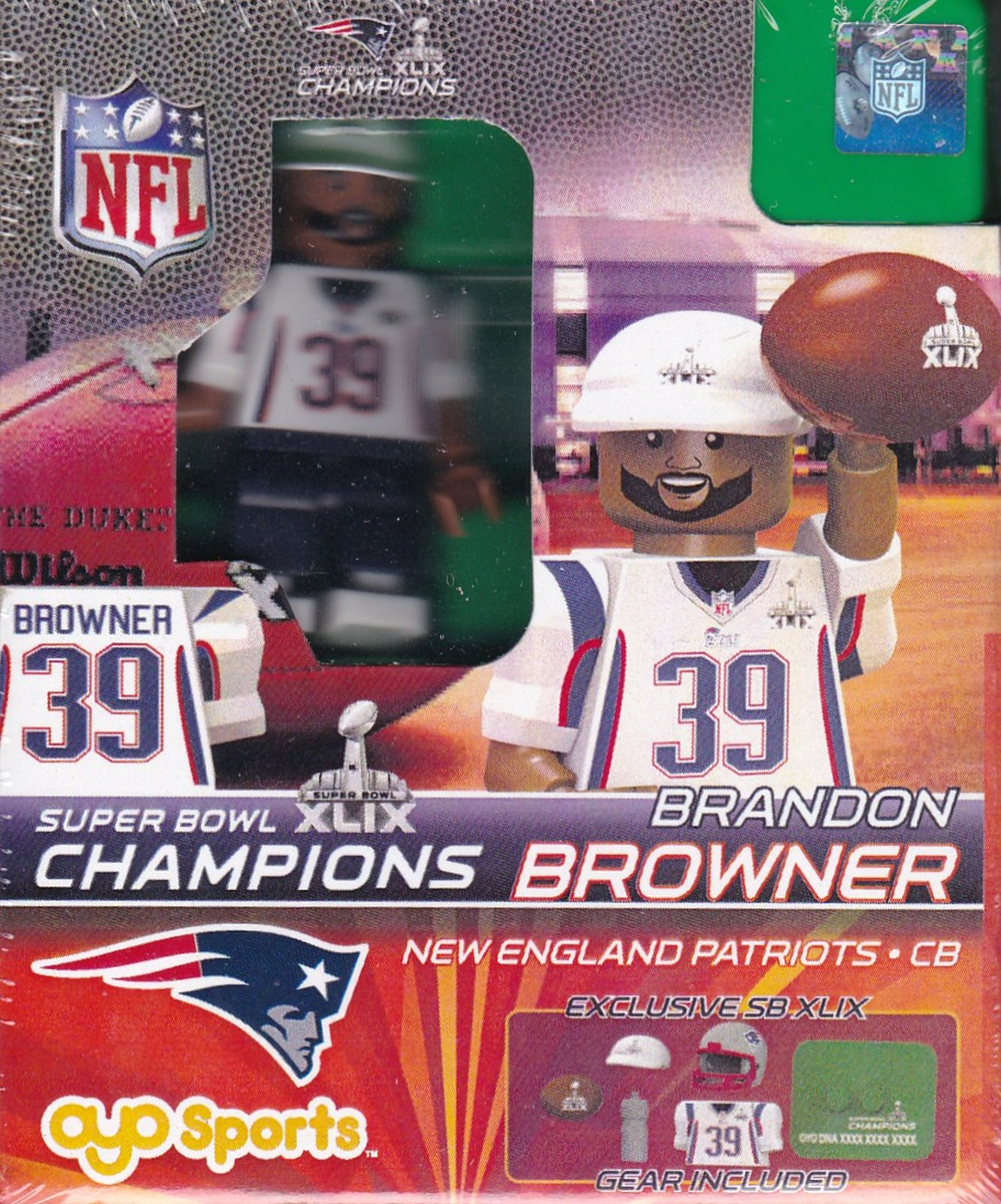 Brandon Browner New England Patriots Super Bowl 49 Champions NFL OYO G2LE Series 3