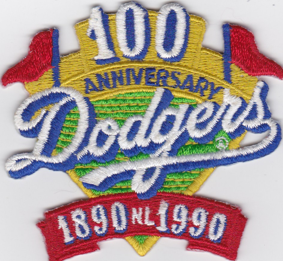Los Angeles Dodgers 100th Anniversary Patch 1890 - 1990 NL