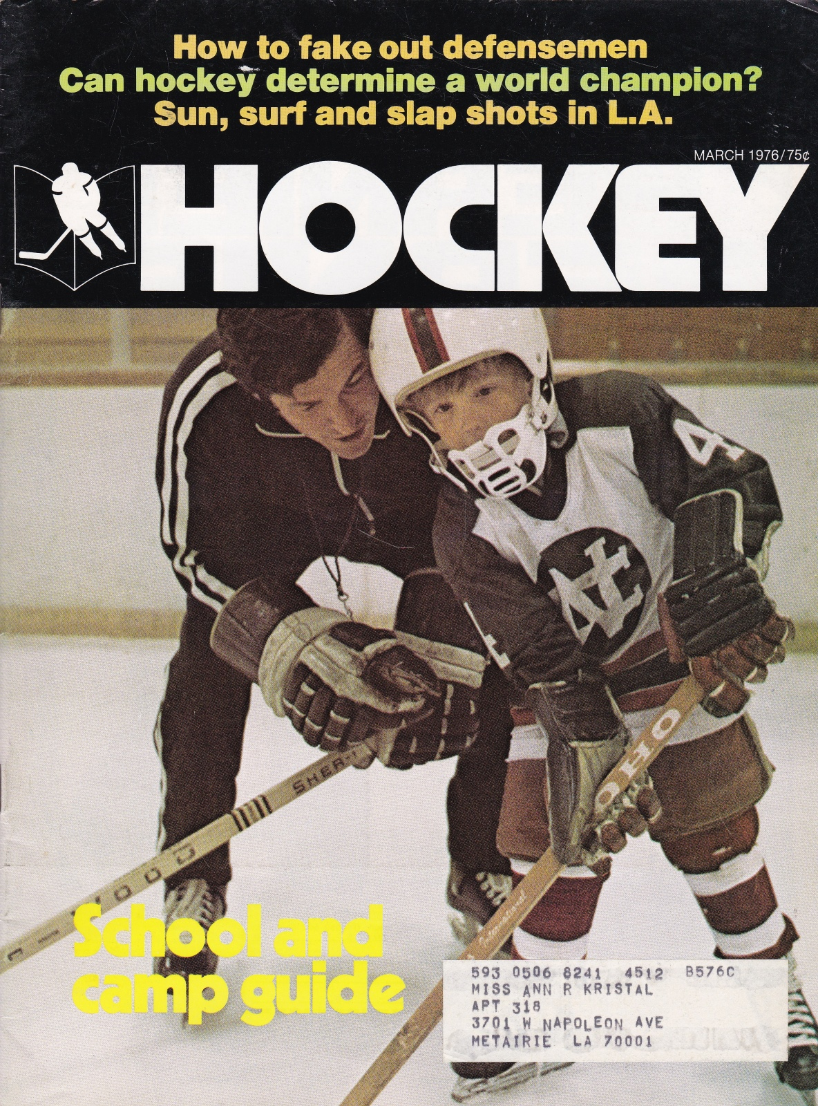 Hockey Magazine March, 1976