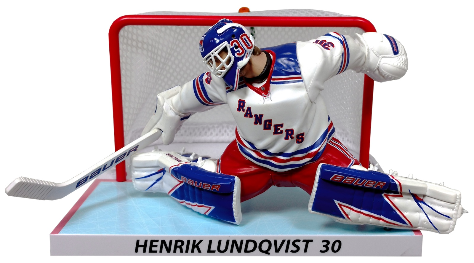 Henrik Lundqvist New York Rangers With Net Imports Dragon Limited