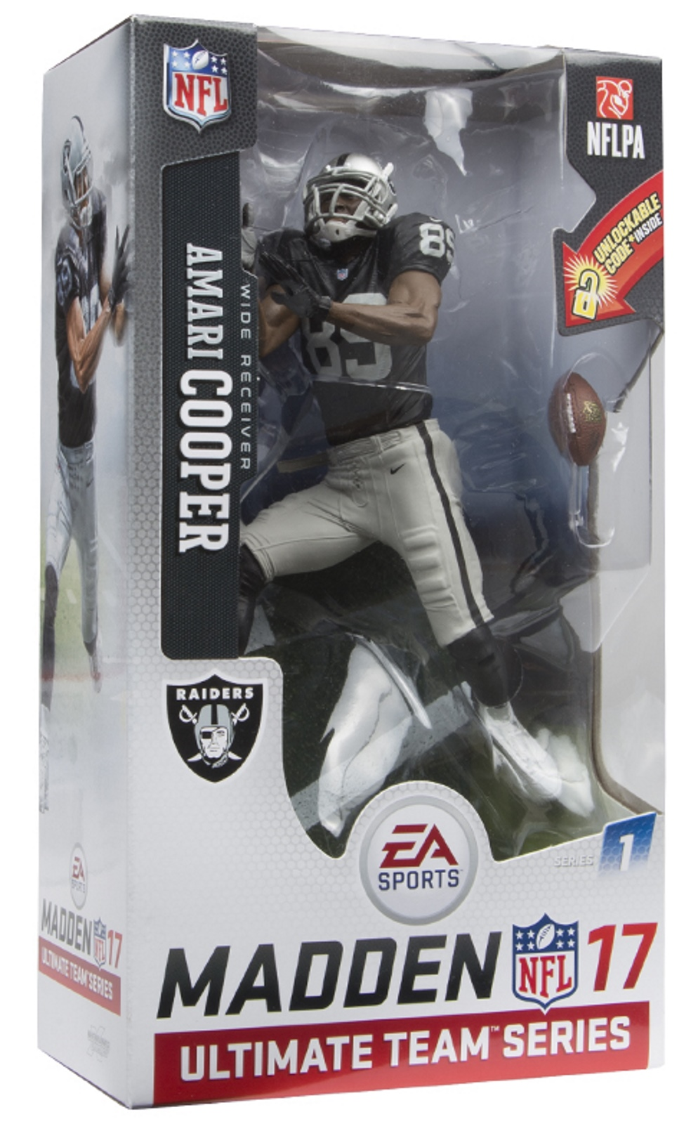 Amari Cooper NFL Ultimate Team Series 1 Madden 17 McFarlane figure Oakland Raiders