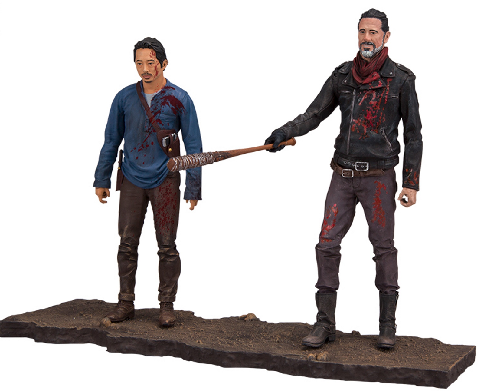 THE WALKING DEAD (TV): DELUXE BOX - NEGAN and GLENN DELUXE McFARLANE FIGURE