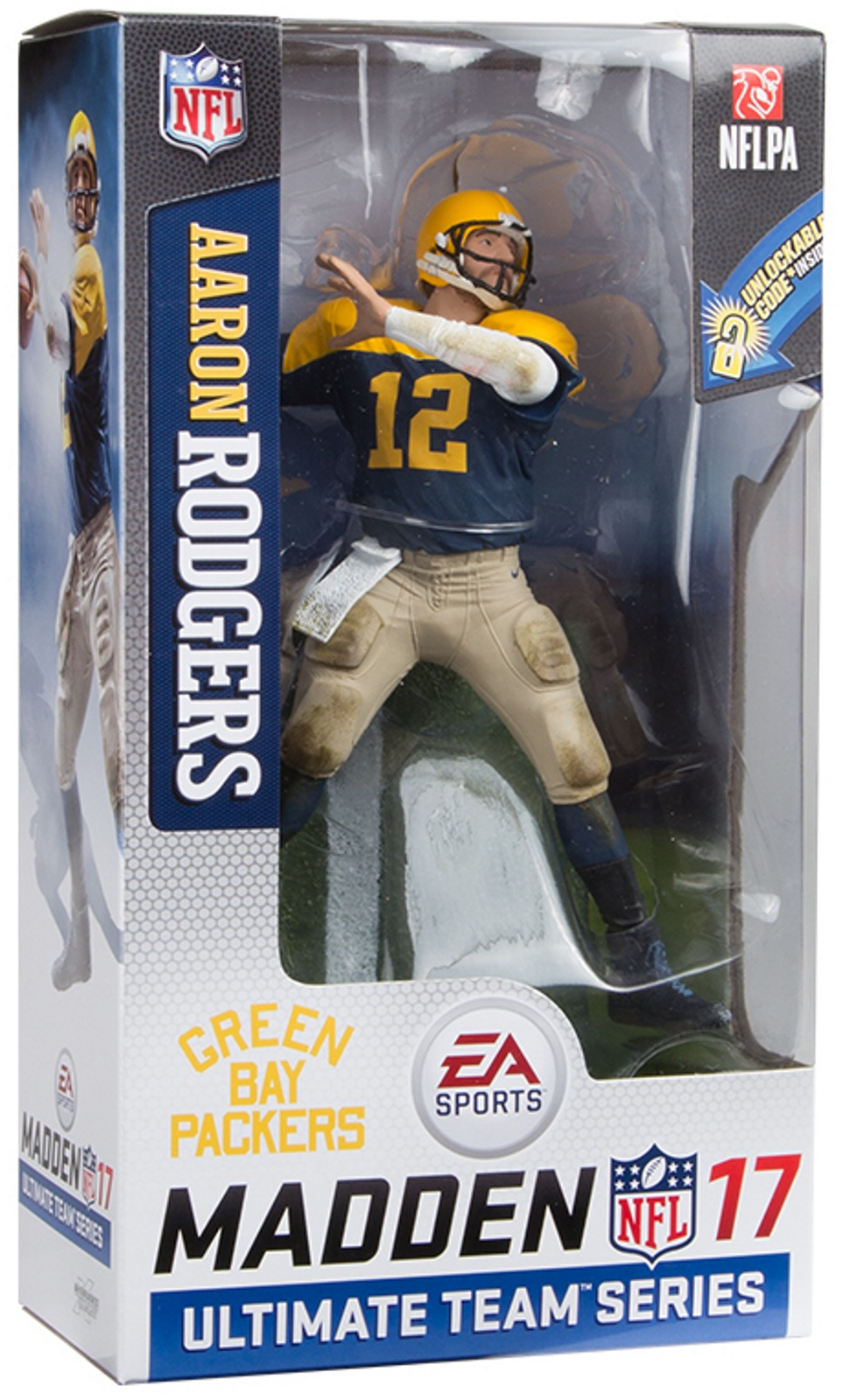 Aaron Rodgers NFL Ultimate Team Series 2 Madden 17 McFarlane figure Green Bay Packers