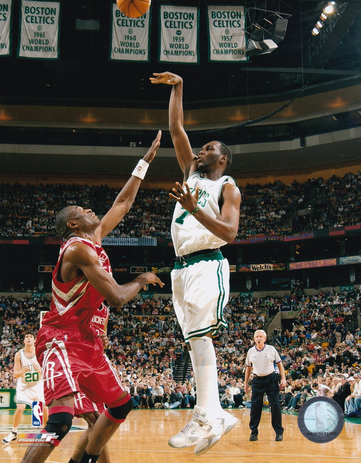 Al Jefferson Boston Celtics 8x10 color photograph 2005