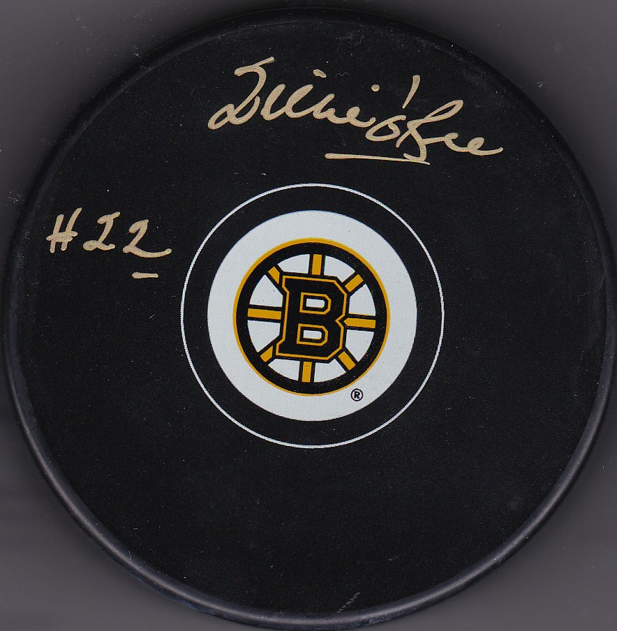 Willie O'Ree Autograph Boston Bruins Logo puck