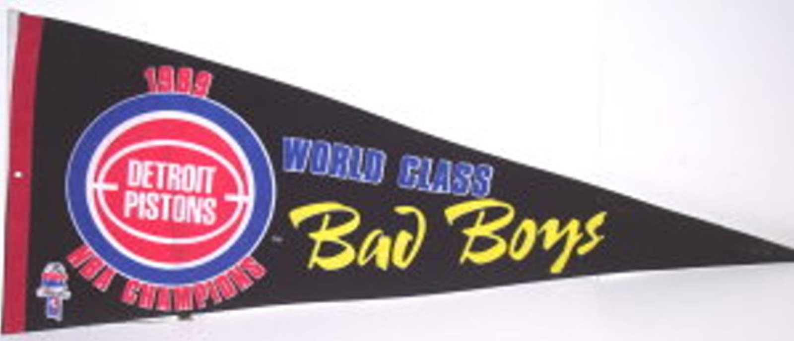 Detroit Pistons 1989 NBA Champions World Class Bad Boys Pennant