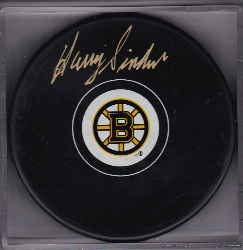 Harry Siden Autograph Boston Bruins Logo puck