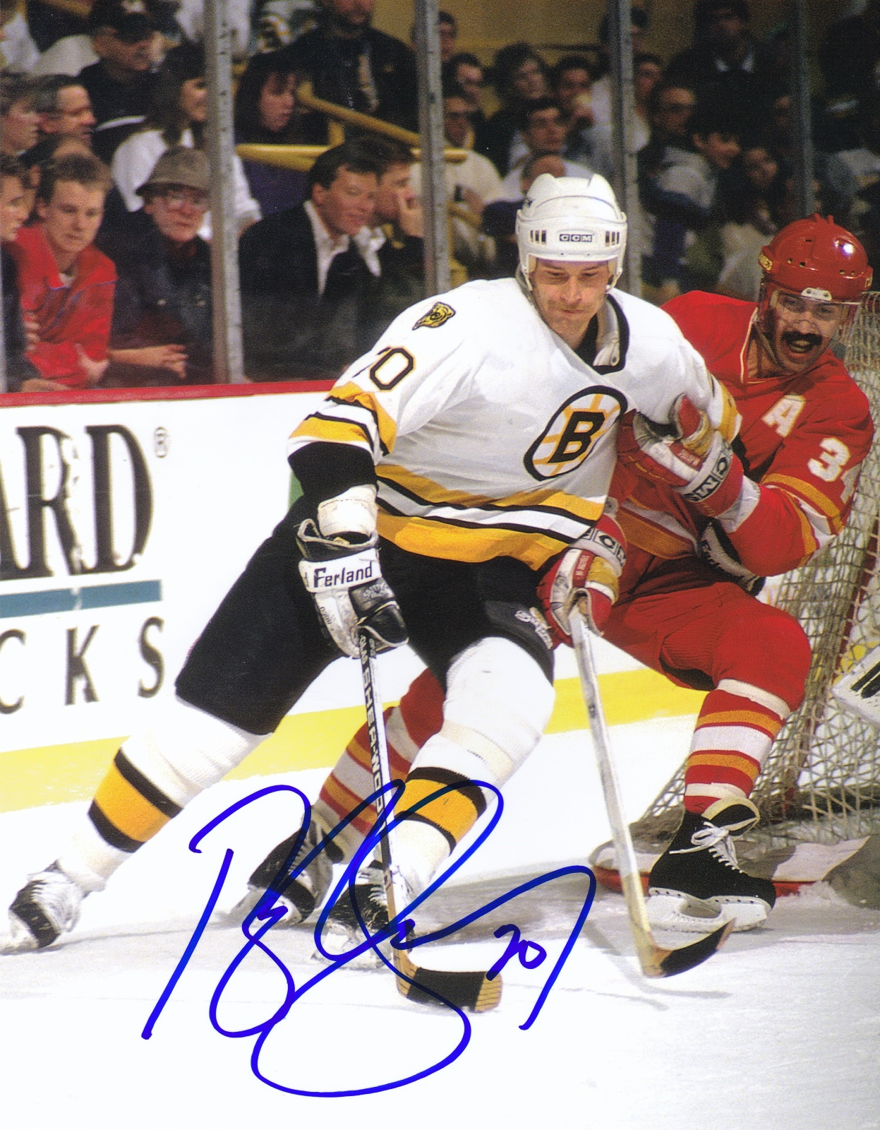 Bob Sweeney Autograph 8x10 Color photo Boston Bruins