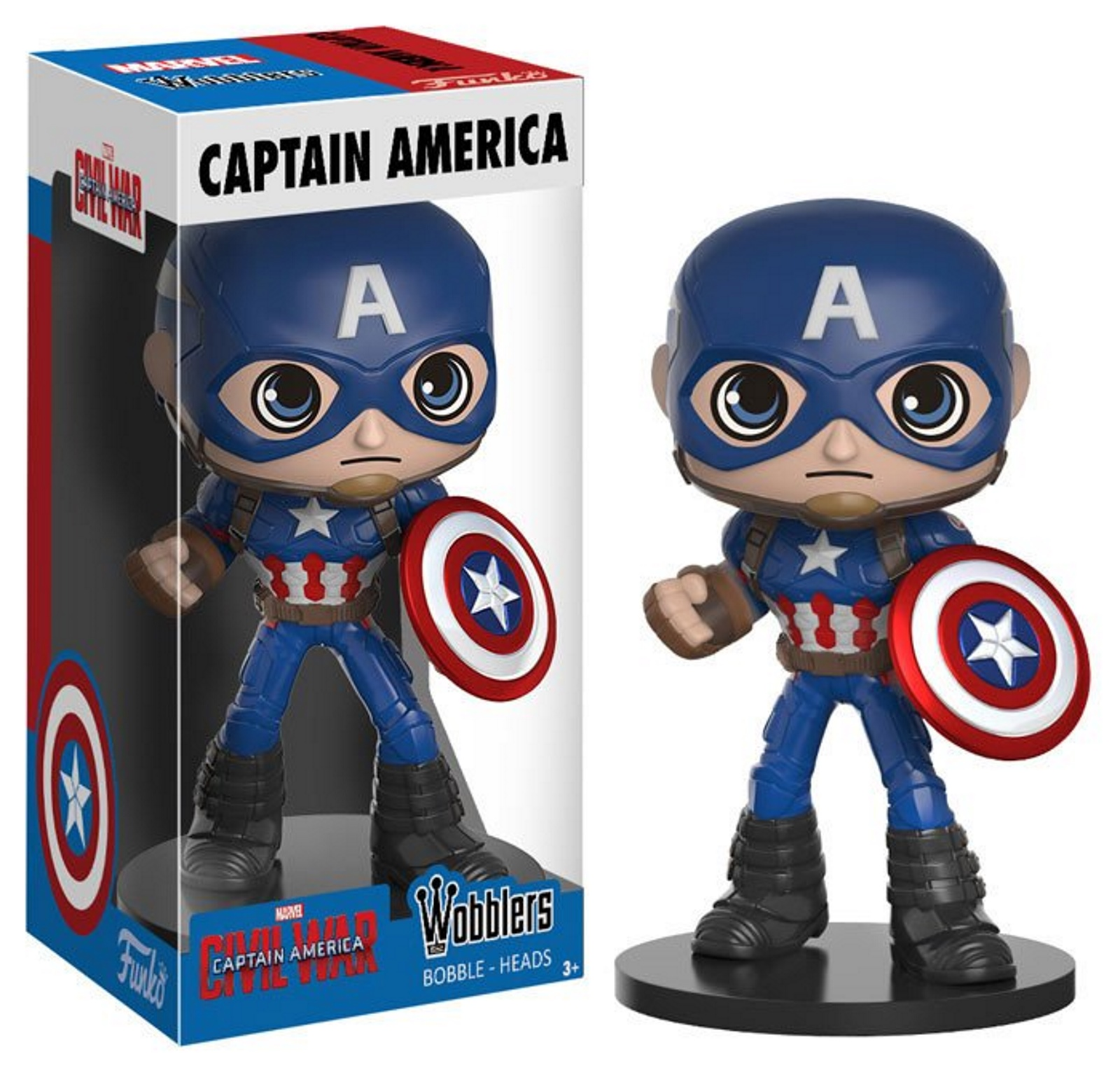 Captain America Marvel Captain America Civil War Wacky Wobbler Bobble-head