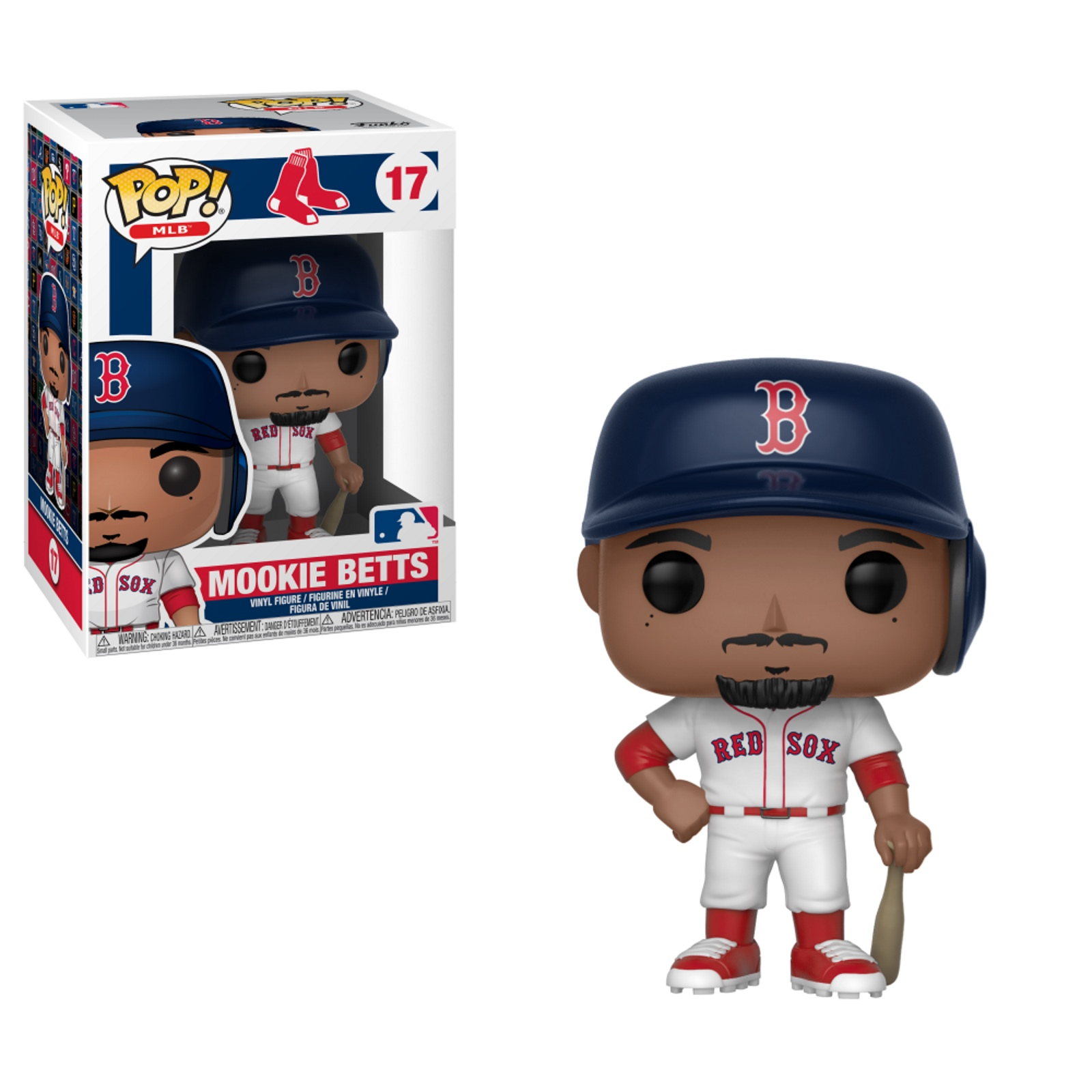 Pop! MLB #17 Mookie Betts Vinyl figure Boston Red Sox