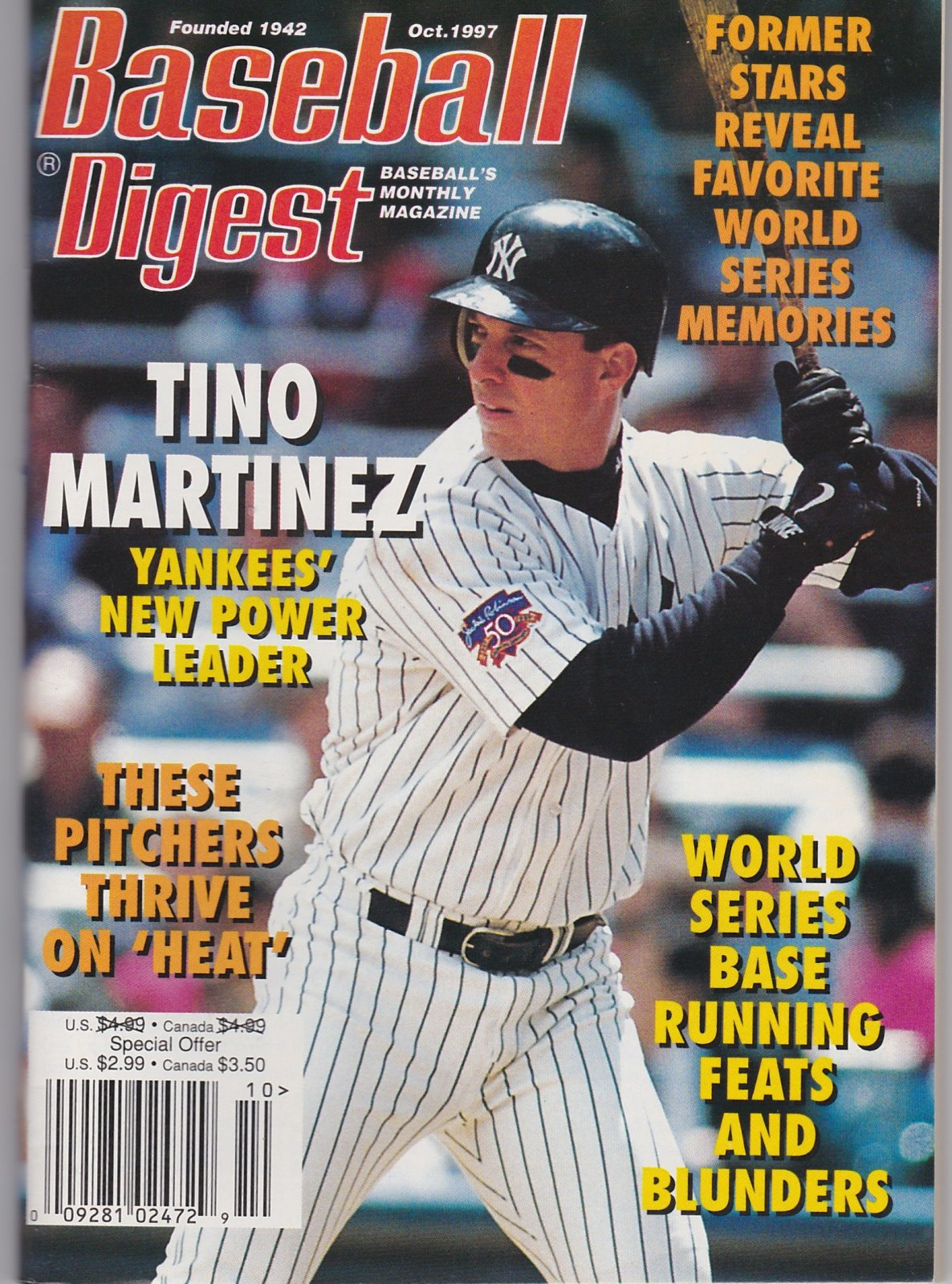 Baseball Digest Baseball's Monthly Magazine Oct. 1997