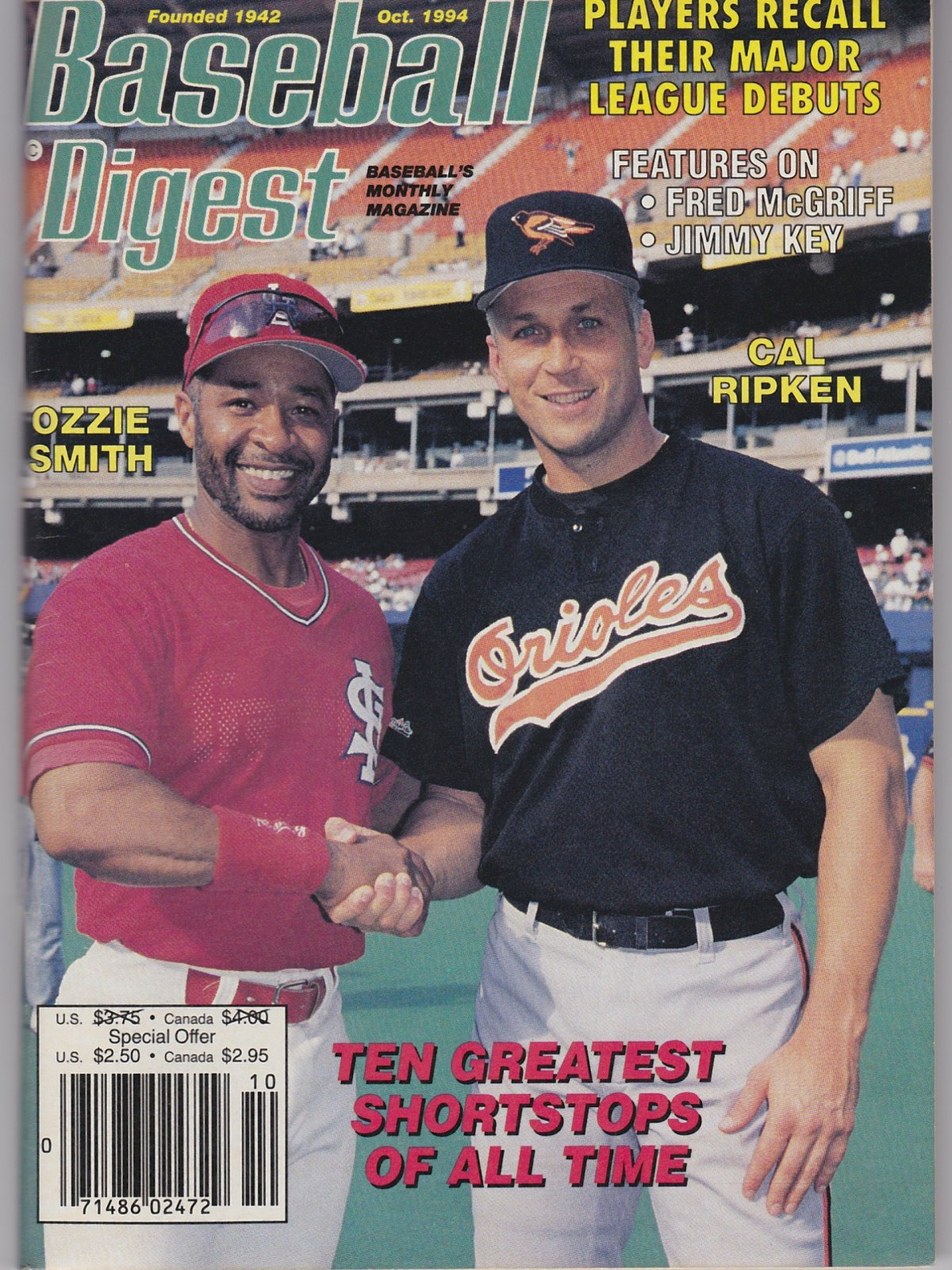 Baseball Digest Baseball's Monthly Magazine Oct. 1994