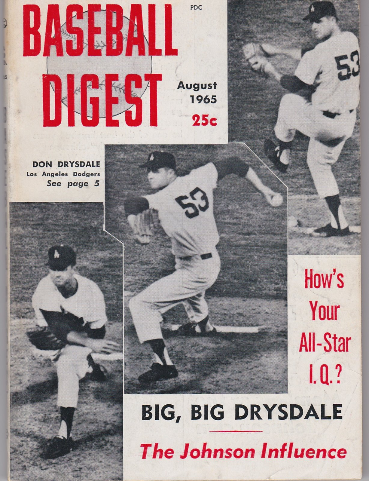 Baseball Digest Baseball's Monthly Magazine August, 1965
