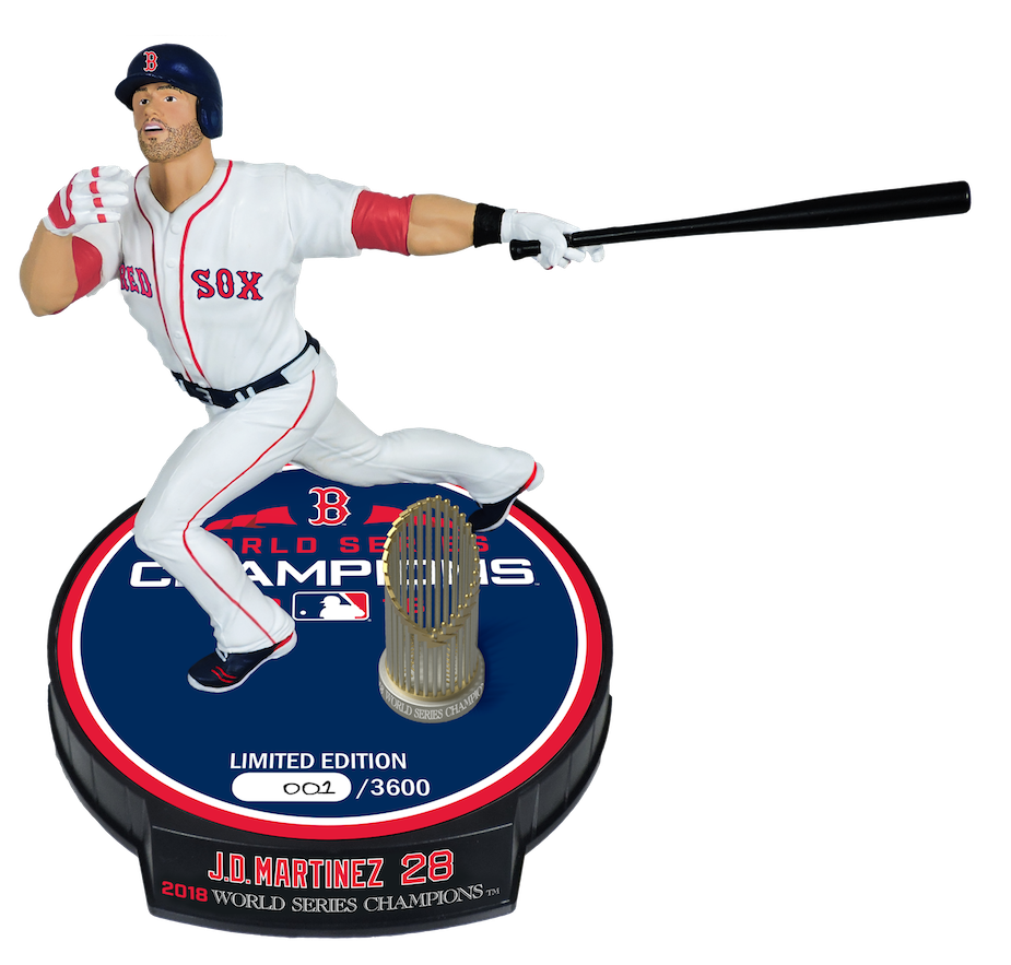 "J.D. Martinez Boston Red Sox 2018 World Series Champions Imports Dragon 6"" Limited Edition Figure"