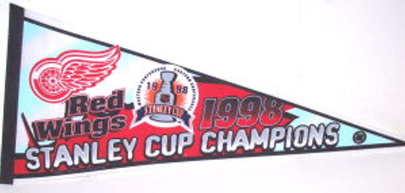 Detroit Red Wings 1998 Stanley Cup Champions Pennant