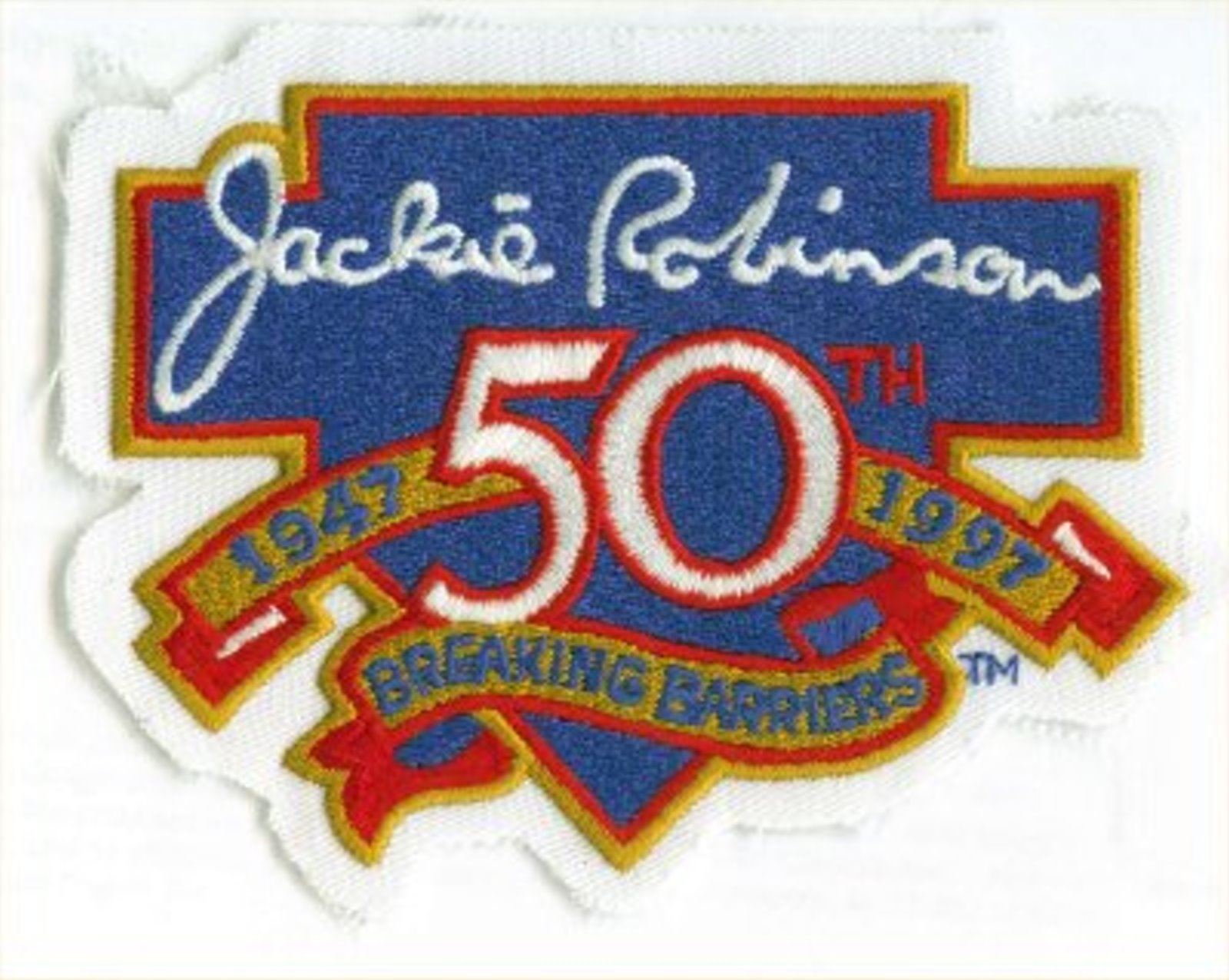 Jackie Robinson 50th Breaking Barriers patch 1947-1997