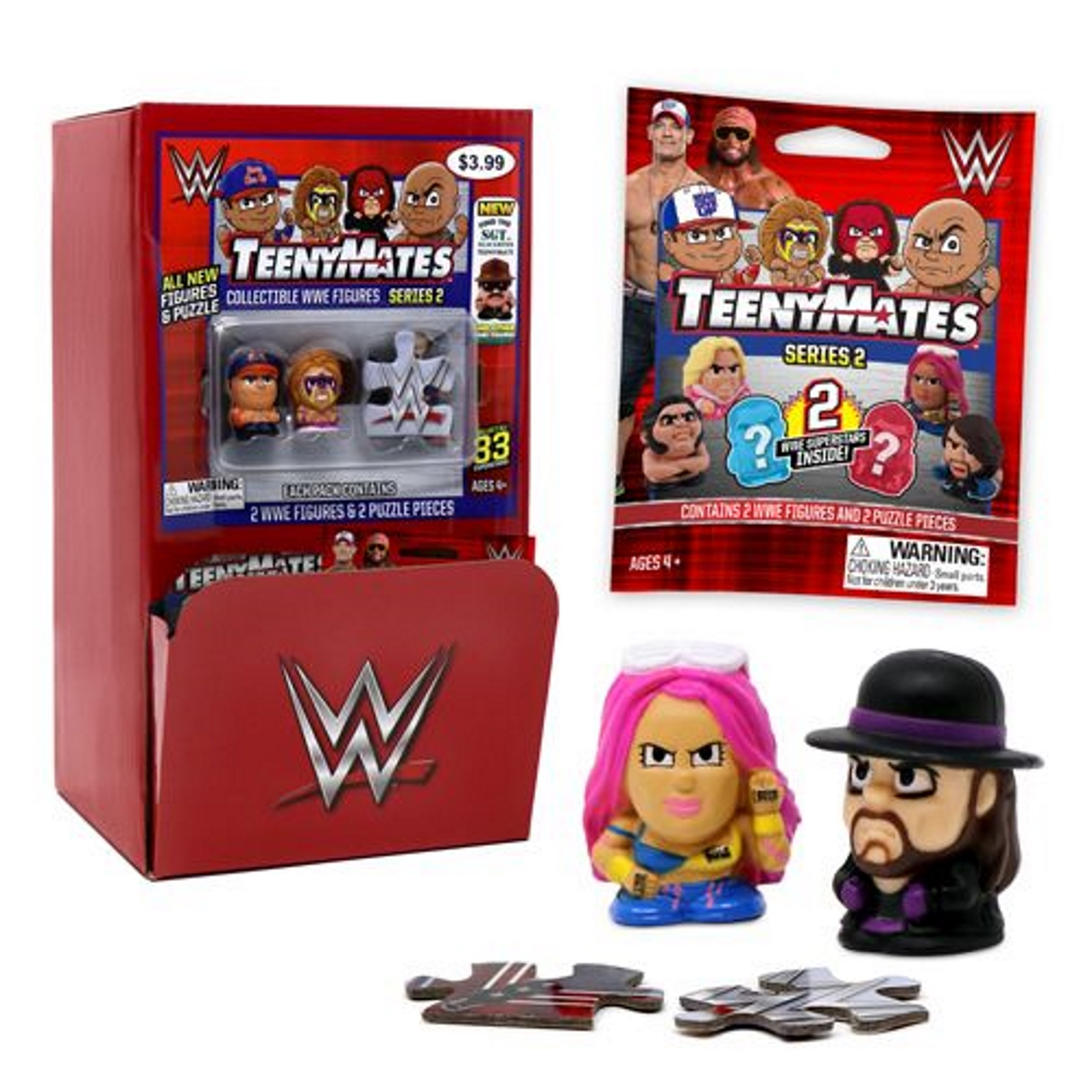 Party Animal TeenyMates WWE Series 2 Blind pack